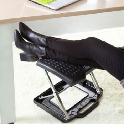 The Adjustable Height Portable Foot And Leg Rest