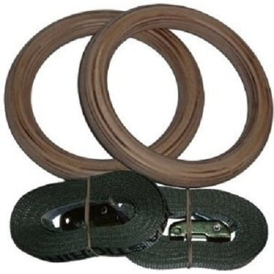 Gymnastic Rings - USA Wood Gymnastics Rings for Fitness and Crossfit Training