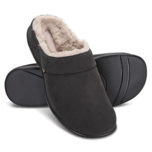 The Lady's Back Pain Relieving Fur Slippers - with orthotic footbeds that help improve posture and relieve back pain