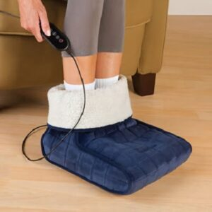 The Heated Foot Muff - with heat therapy design to soothe and relax sore and tired feet