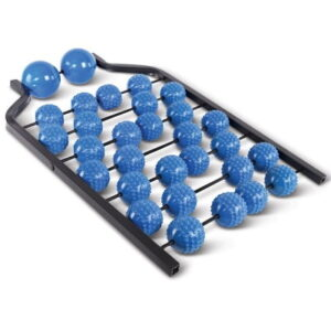 The Back Pain Relieving Acupressure Roller - A back massager with 30 acupressure rollers that relieve tight muscles in the back and neck