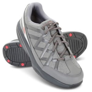 The Lady's Back Pain Relieving Walking Shoes - A Swiss-engineered and multi-layered curved sole designed to help relieve back pain