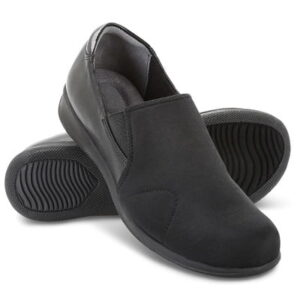 The Lady's Bunion Relief Shoe - A slide-on shoes that flex to help relieve pain connected with bunions and other foot ailments.