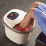 The Hydrotherapy Heated Foot Bath - Helps pamper sore feet and calves using relaxing reflexology massage