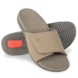 The Plantar Fasciitis Orthotic Slide Sandal - helps combat the effects of plantar fasciitis using stabilizing orthotic footbed