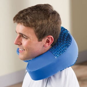 The Cooling Gel Neck Pain Reliever - A foam neck support that helps reduce pain and muscle stiffness with cooling comfort