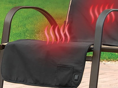 The Cordless Heated Patio Chair Cover A Chair Cover That