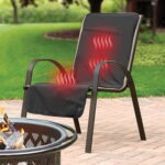 The Cordless Heated Patio Chair Cover - A chair cover that keeps one warm on brisk al fresco evenings
