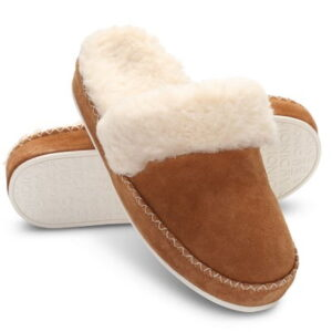 The Plantar Fasciitis Suede Scuff Slippers - help to combat the painful effects of plantar fasciitis