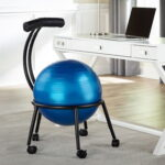 The Backrest Core Strengthening Chair - a stability ball seat that strengthens the back and core