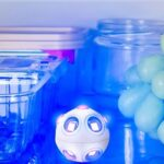 The Mold and Germ Destroying UV Light Spheres - a UV blue light emitting spheres that disinfect shoes, refrigerators, and humidifier reservoirs