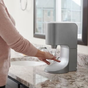 The Towel Eliminating Touchless Hand Dryer - helps reduce cross-contamination in a kitchen or the spread of germs in a bathroom