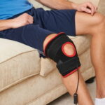 The Heated LED Knee or Elbow Pain Reliever - flexible wrap that helps relieve pain in the knee or elbow