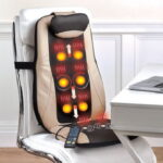 The Targeted Treatment Massage Cushion - uses Shiatsu, rolling, and vibration massage to target and knead muscles in the upper back, lumbar, and buttocks