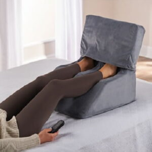 The Only In Bed Shiatsu Foot Massager - Enjoy heated shiatsu foot massage while lying in bed or sofa