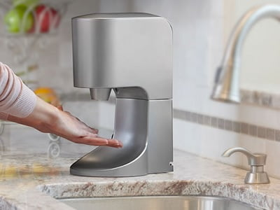 The Touch-less Hand Dryer - Now you can stop spreading germs or lessen cross-contamination in a kitchen or bathroom