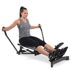 The Folding Sculling Machine - strengthens your arms, shoulders and back while the push-off engages your legs and glutes