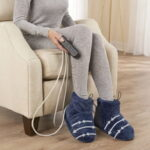 The Massaging Heated Therapy Booties - with built-in compression, vibration massage and heat to help relax tired feet