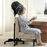 The Salon Bonnet Hair Dryer - A hooded hair dryer that creates a relaxing salon experience at home