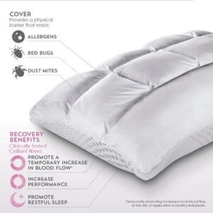 The Sleep Enhancing Neck Pillow - A reversible pillow with cushioned neck support and circulation-improving fabric