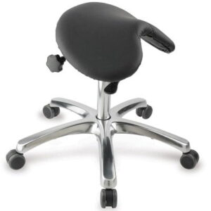The Posture Improving Saddle Seat - reduces back fatigue and discomfort while seated