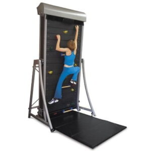 The Climbing Wall Treadmill - Equipped with continuously revolving face to enable endless vertical climbs