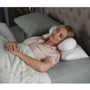 The Proper Neck Support Pillow - With support bolster to correctly position the neck and spine while asleep