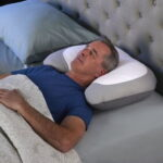 The Snore Reducing Memory Foam Pillow - Holds head at correct angle to help minimize snoring