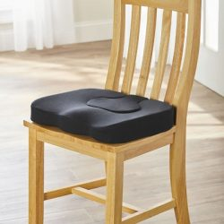 The Convertible Comfort Ring Cushion - A seat cushion with a removable insert for coccyx relief