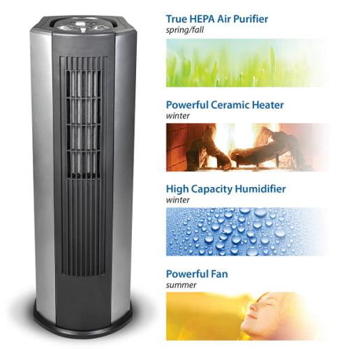Humidifying Heating Cooling Air Purifier